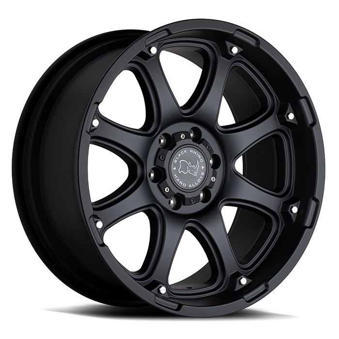 Wheel, Black Rhino Glamis - 18x9 +12MM Matte Black