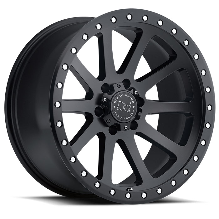 Wheel, Black Rhino Mint - 20x9 +12MM Matte Black