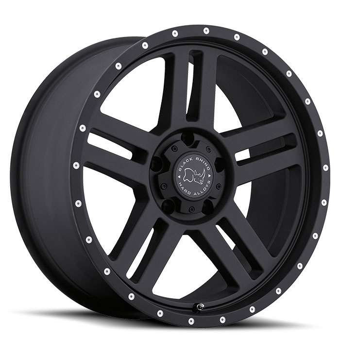 Wheel, Black Rhino Mojave - 20x9 +12MM Matte Black
