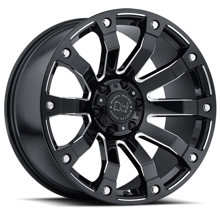Wheel, Black Rhino Selkirk - 18x9 +12MM Gloss Black Milled
