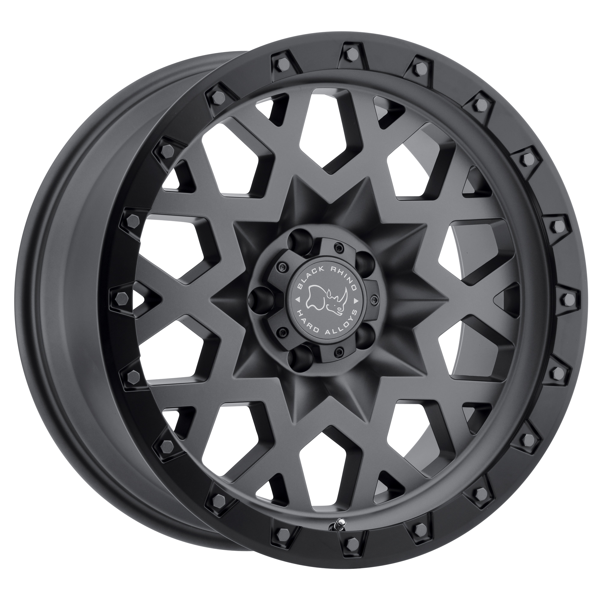 BLACK RHINO SPROCKET hliníkové disky 9,5x17 5x127 ET-18 MATTE GUNMETAL W/BLACK LIP EDGE (GUNMETAL BOLTS)