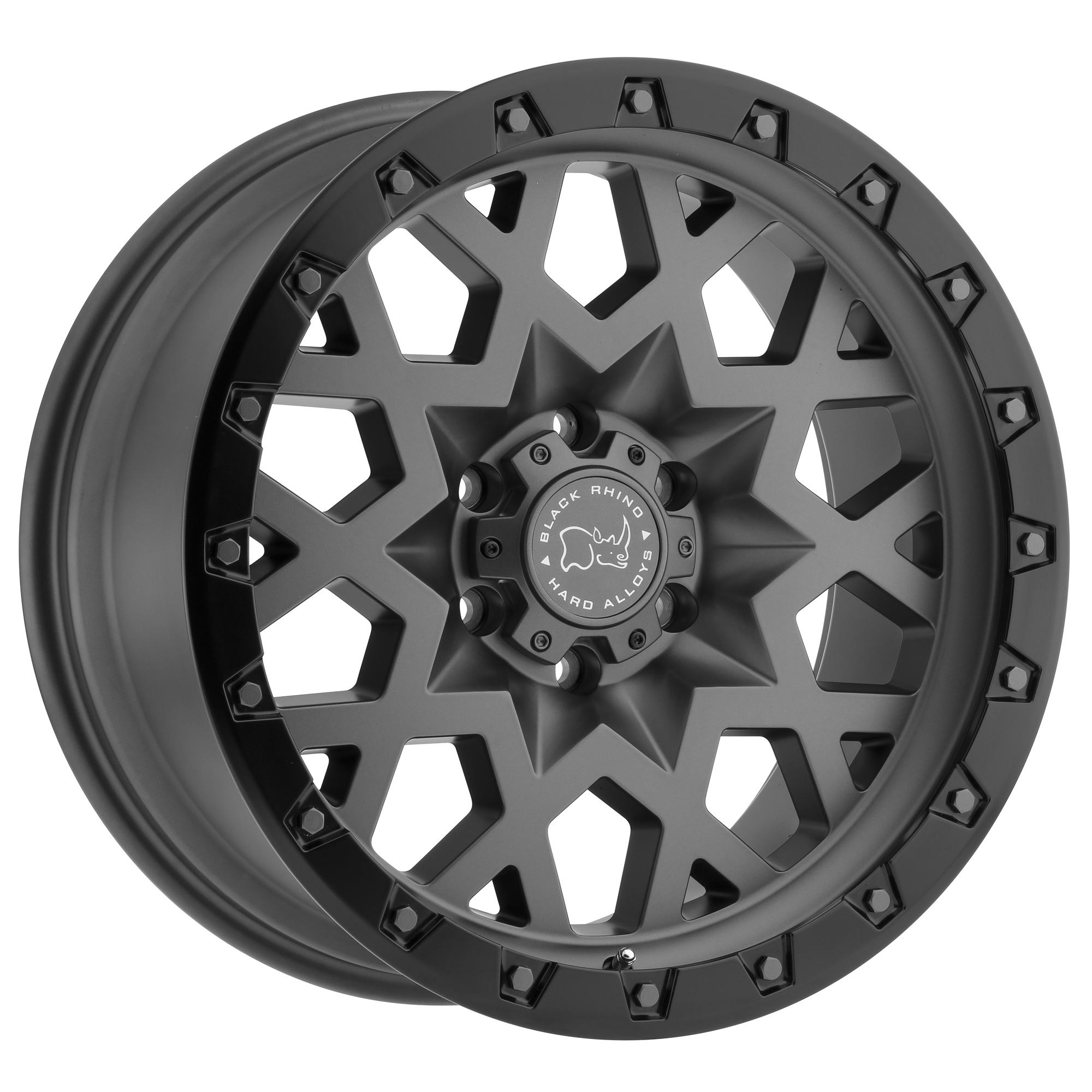 BLACK RHINO SPROCKET hliníkové disky 9,5x17 6x139.70 ET-18 MATTE GUNMETAL W/BLACK LIP EDGE (GUNMETAL BOLTS)