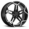 TSW P1A Alloy Wheels Gloss Black w/Machine Cut Face