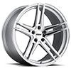 TSW Mechanica Alloy Wheels Silver with Mirror Cut Face