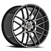 TSW Nord Alloy Wheels Semi Gloss Black w/ Ball Milling & Machined Dark Tint Face