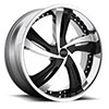 TSW Fantasy - S835 Alloy Wheels Chrome with Gloss Black Inserts