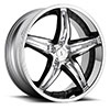 TSW Haze - S837 Alloy Wheels Chrome with Gloss Black Inserts