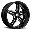TSW Haze - S837 Alloy Wheels Gloss Black with Chrome Inserts