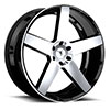 TSW Empire - S839 Alloy Wheels Gloss Black with Machined Face