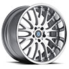 TSW Munich Alloy Wheels Silver w/ Machined Face & Chrome Lip