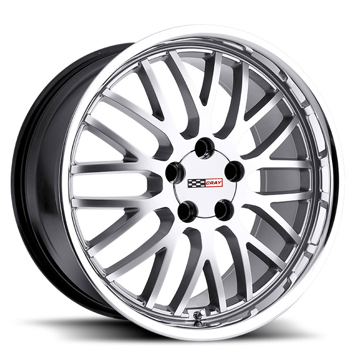 Corvette Wheels Rims Cray Lug Rear Manta Silver Std