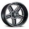 "TSW Canon Alloy Wheels Gloss Black w/ Milled Spokes (11.5"")"