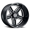 "TSW Canon Alloy Wheels Gloss Black w/ Milled Spokes (14"")"