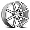 TSW Wilks Alloy Wheels Silver w/Gloss Black Face