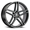 TSW Crown Alloy Wheels Matte Black w/ Machine Face & Dark Tint & Ball Milling