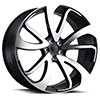 TSW Vincent Alloy Wheels Gloss Black with Mirror Cut Face
