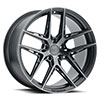 TSW Cairo Alloy Wheels Carbon Graphite (Matte Black w/ Machined Face & Dark Tint)