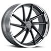 TSW Florence Alloy Wheels Matte Gunmetal with Brushed Gunmetal Face and Stainless Steel Lip