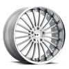 TSW New York Alloy Wheels Silver w/ Brushed Face & SS Lip