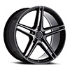 TSW Bremen Alloy Wheels Semi Gloss Black w/ Mirror Cut Face & Translucent Clear