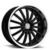 TSW Millennium Alloy Wheels Gloss Black w/ Mirror Cut Lip