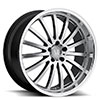 TSW Millennium Alloy Wheels Hyper Silver w/ Mirror Cut Lip
