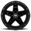 T10 Gloss Black w/ Milled Spokes