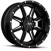 TSW T14 Alloy Wheels Satin Black w/ Milled Spokes