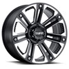 TSW T22 Alloy Wheels Gloss Black w/ Milled Spokes & Stainless Steel Bolts