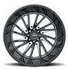 T2A True Directional Wheel Gloss Black w/ Milled Spoke