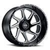 TSW T2B True Directional Alloy Wheels Gloss Black with Milled Spoke