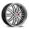 TSW Lemans Alloy Wheels Hyper Silver w/ Mirror Cut Lip