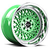 TSW R362 Alloy Wheels Bright Green w/ Machined Lip