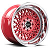 TSW R362 Alloy Wheels Candy Red w/ Machined Lip