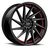 TSW R363 Alloy Wheels Satin Black w/ Red Pin
