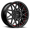 TSW R365 Alloy Wheels Satin Black w/ Red Pin