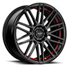TSW R367 Alloy Wheels Satin Black w/ Red Pin