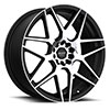 TSW R351 Alloy Wheels Flat Black w/ Machined Face