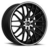 TSW R355 Alloy Wheels Flat Black w/ Machined Center & Pin