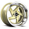 TSW R368 Alloy Wheels Gold w/ Machined Lip