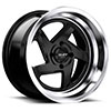 TSW R368 Alloy Wheels Satin Black w/ Machined Lip