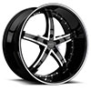 TSW R953 Alloy Wheels Gloss Black w/ Machined Face