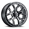Morland Gloss Metallic Black w/ Brushed Tinted Face & Black Bolts