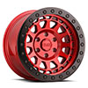 TSW Primm Beadlock Alloy Wheels Candy Red w/ Black Ring