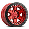 TSW Reno Beadlock Alloy Wheels Candy Red with Black Ring and Black Bolts