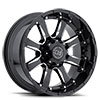 "TSW Sierra Alloy Wheels Gloss black with Milled Spokes (10"")"