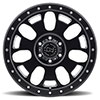 Block Matte Black with Milled Spokes