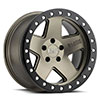 TSW Crawler Beadlock Alloy Wheels Matte Bronze with Black Lip Ring