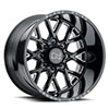 TSW Grimlock Alloy Wheels Gloss Black w/ Milled Spokes