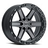 TSW Henderson Alloy Wheels Gun Black with Black Lip Edge and Black Bolts